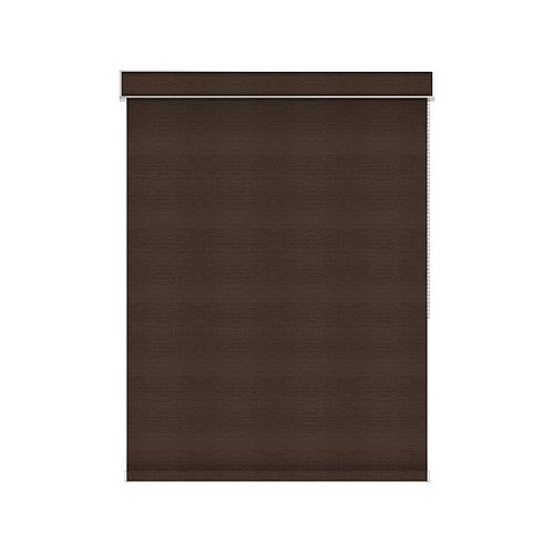 Sun Glow Blackout Roller Shade - Chain Operated with Valance - 36-inch X 60-inch in Cinder