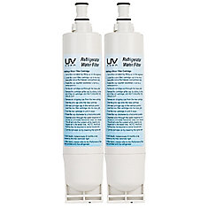 Refrigerator Water Replacement Filter 2 Pack Whirlpool, KitchenAid, Maytag  & Kenmore