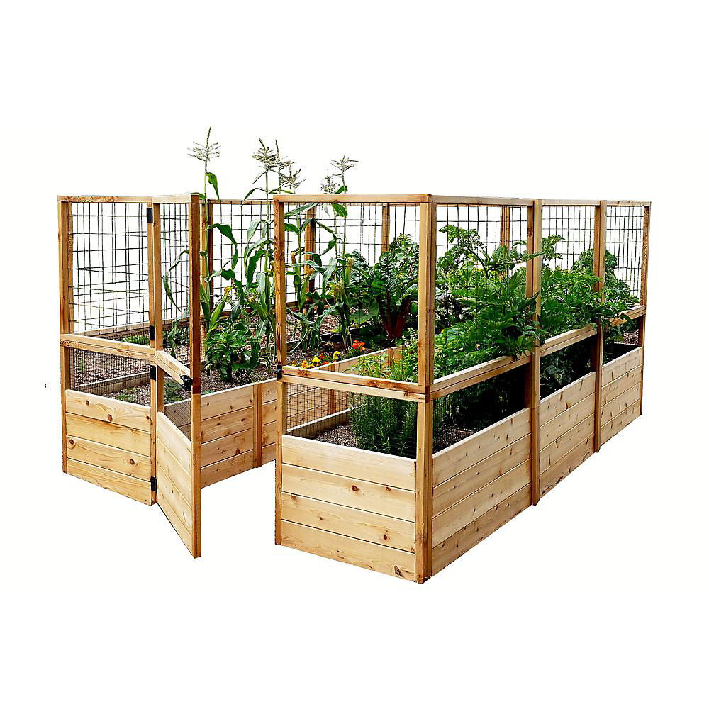 Outdoor Living Today 8 Ft. X 12 Ft. Raised Garden Bed W