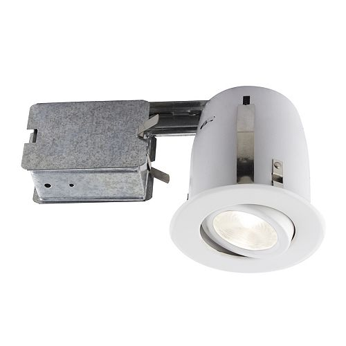 Bazz 4-inch White Recessed LED Lighting Kit with PAR20 Bulb Included