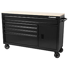 56 inch 5-Drawer Mobile Work Center