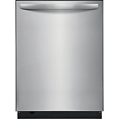 24-inch Top Control Dishwasher in Stainless Steel with Stainless Steel Tub