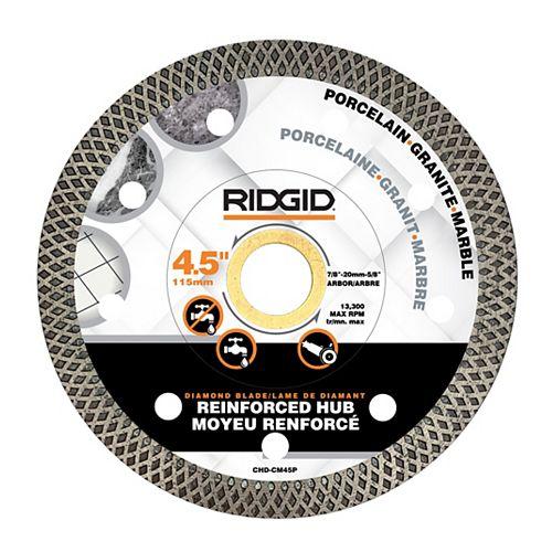 RIDGID 4.5-inch Continuous Rim Diamond Blade with Mesh Rim