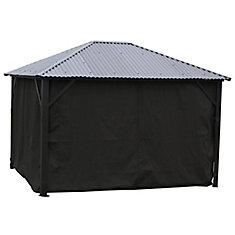 Black side curtains for all Corriveau Gazebo - 10 x 12