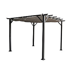 Vienna pergola  10 ft.x10 ft. with retractable canopy