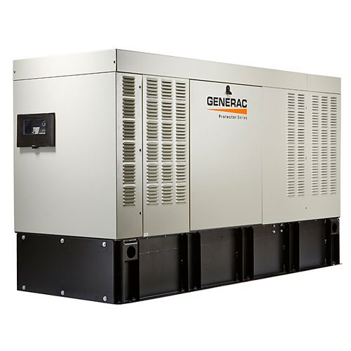 Generac 50,000W 120/208V Three Phase Automatic Standby Diesel Generator with Extended Steel Tank