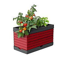 PMGRG-  Planter for Modular Garden, red  Perfect for balcony gardens