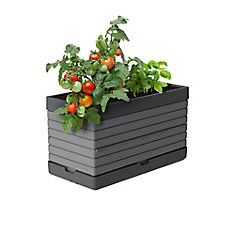 PMGGG-  Planter for Modular Garden, grey  Perfect for balcony gardens