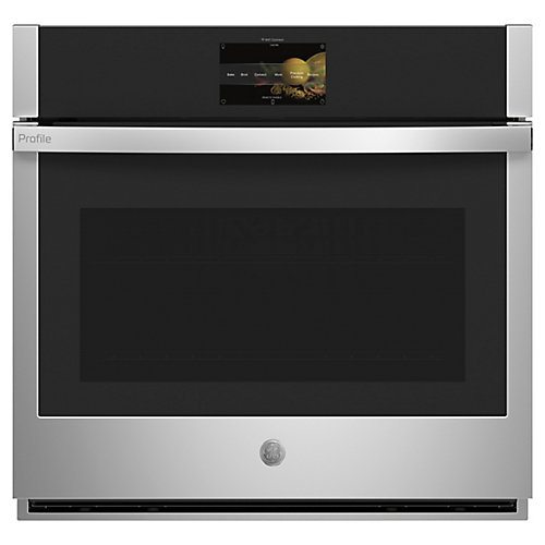30-inch W Smart Single Electric Wall Oven with Convection Self-Cleaning in Stainless Steel