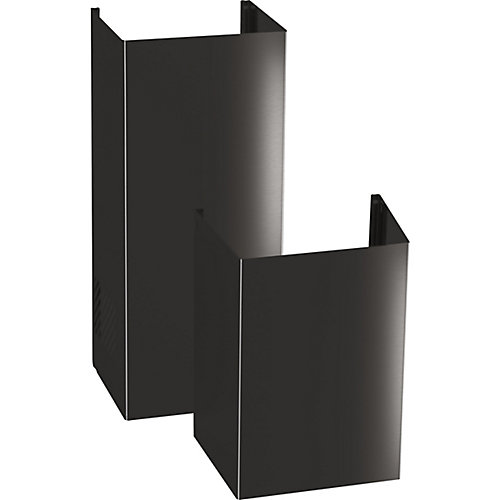 9ft. Ceiling Duct Cover Kit - Black Stainless