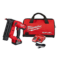 M18 FUEL GEN II 18V Li-Ion Brushless Brad Nailer Kit with (1) 2.0 Ah Battery, Charger and Bag