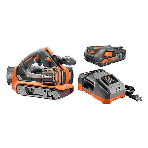 18V Lithium-Ion Cordless Brushless 3 -inch x 18 -inch Belt Sander Kit with Battery and Charger