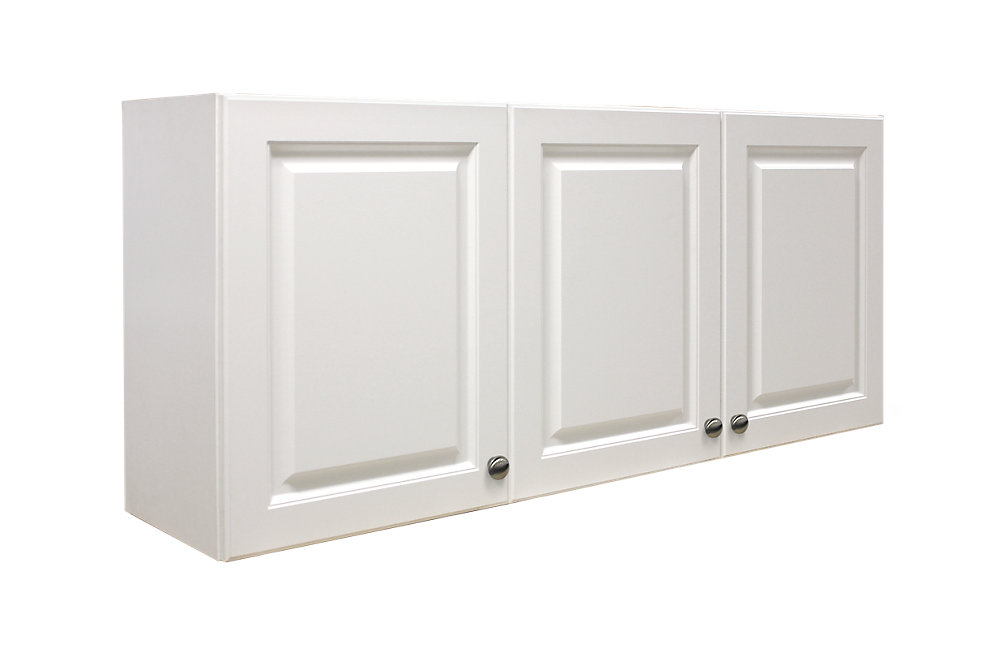 Florence Rectangular 3-door Laundry Cabinet in White with Thermafoil Raised Panels