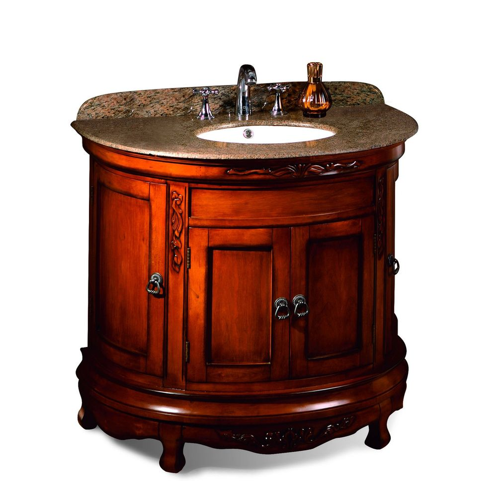 Ove Decors Victoria 36 Inch Light Cherry Single Sink