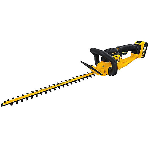 20V MAX Lithium-Ion Cordless 22-inch  Hedge Trimmer with 5.0Ah Battery and Charger Included