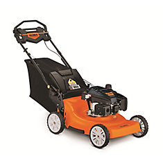 2-in-1 23-inch Wide Cut Gas Self-Propelled Lawn Mower - 196cc Engine