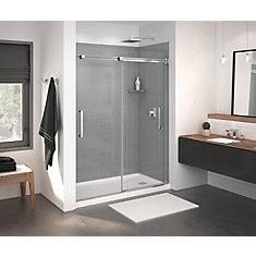 Inverto Frameless Sliding Shower Door 56 to 59 Inch x 70.5 Inch in Chrome
