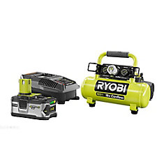 18V ONE+ Cordless 1 Gal. Portable Air Compressor with 4.0 Ah Battery and Charger