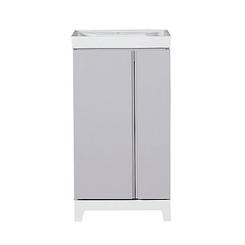 Meuble-lavabo Glovertown de 45,7cm (18po), gris