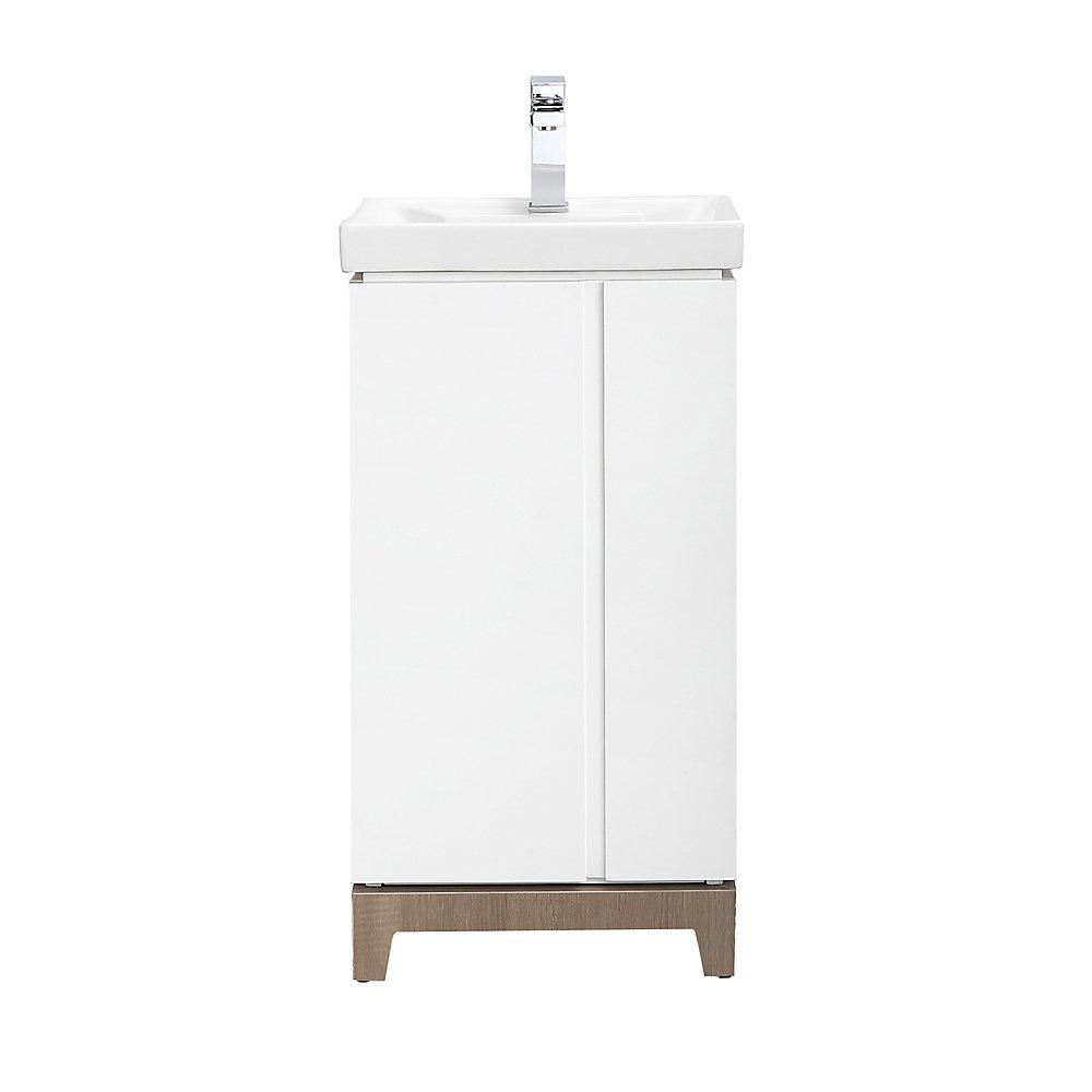 Glovertown 18 Inch White Vanity Bathroom Cabinet