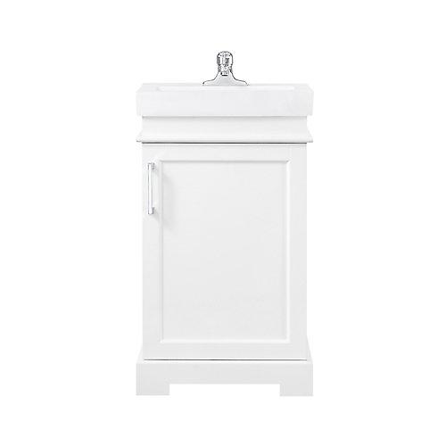 Meuble-lavabo de 50,8cm(20po) avec miroir Hallcrest de la collection Home Decorators, blanc
