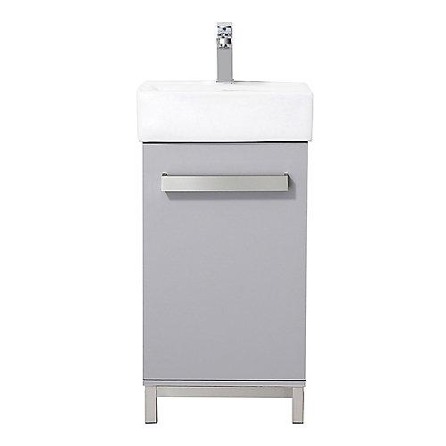 Meuble-lavabo Maelynn de 45,7cm (18po), gris