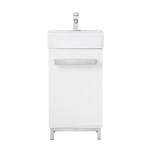 Meuble-lavabo Maelynn de 45,7cm (18po), blanc