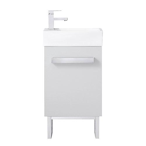 Meuble-lavabo compact Woodmorre de 45,7cm (18po), gris