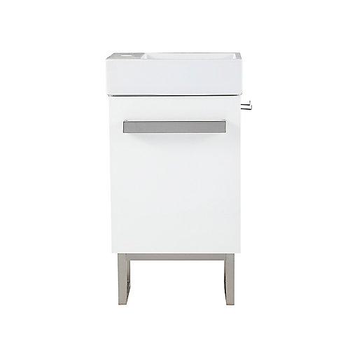 Meuble-lavabo compact Woodmorre de 45,7cm (18po), blanc