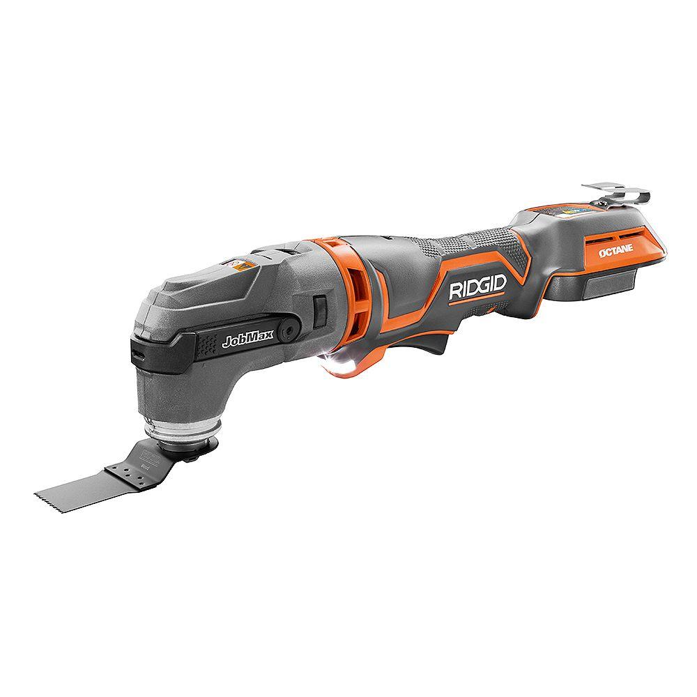RIDGID 18V OCTANE Cordless Brushless JobMax Multi-Tool with Tool-Free Head