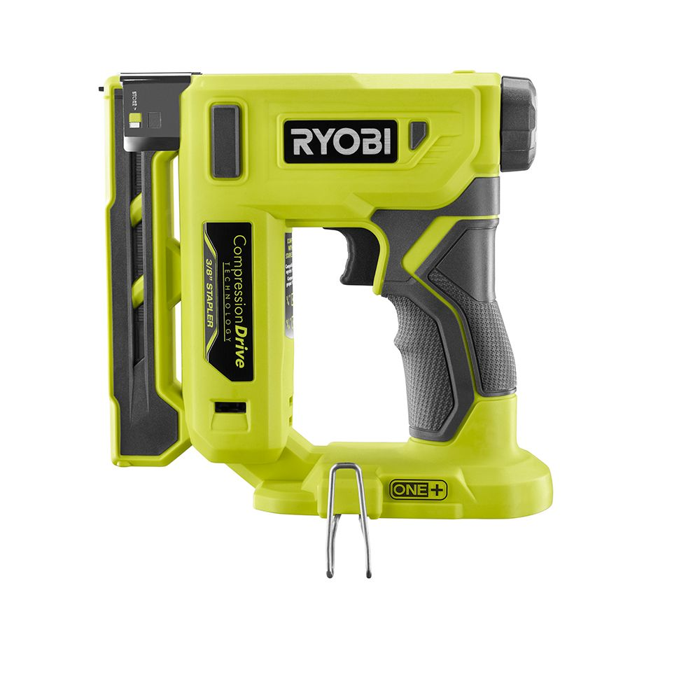 Ryobi P317 18V ONE+ Cordless Compression Drive 3/8 -Inch Crown Stapler