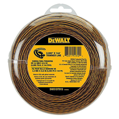 0.095-inch x 144 ft. Replacement Line for Cordless Battery Operated Bump Feed String Grass Trimmer/Lawn Edger