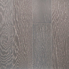 Revêtement de sol, 0.28 po x 5 po x longueurs var., 16.68 pi2/caisse, fini imperméable, bois franc, Glenwood