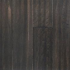 Revêtement de sol, 0.28 po x 5 po x longueurs var., 16.68 pi2/caisse, fini imperméable, bois franc, Ombre grise