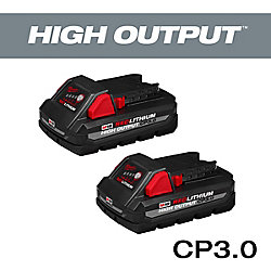 M18 18V Lithium-Ion Compact (CP) HIGH OUTPUT 3.0 Ah REDLITHIUM Battery (2 Pack)