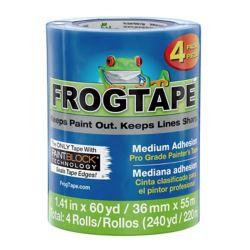 FrogTape Pro Grade Painter's Tape - Blue, 4 pk, 1.41 inch x 60 yd.