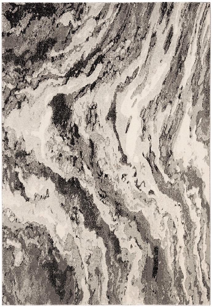 Evoke Hemming Ivory / Grey 4 ft. X 6 ft. Area Rug