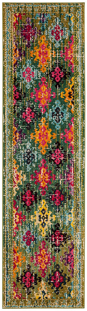 Monaco Josiah Green / Multi 2 ft. 2-inch X 8 ft. Runner