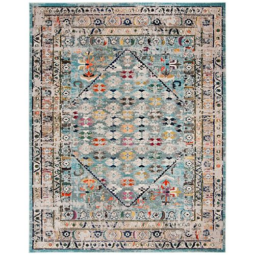 Safavieh Monaco Tendrils Blue / Light Grey 8 ft. X 10 ft. Area Rug