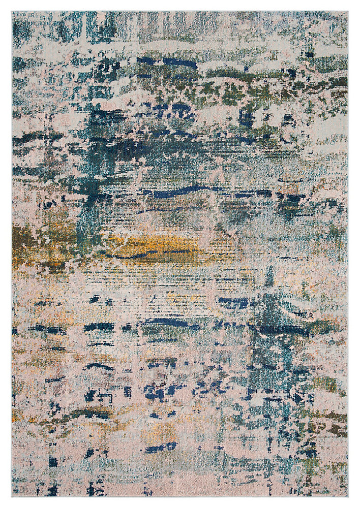 Monaco Harland Blue / Grey 6 ft. 7-inch X 6 ft. 7-inch Square Area Rug