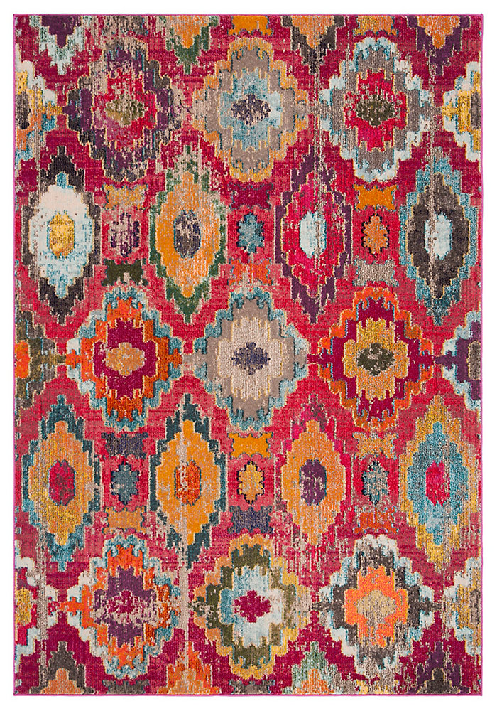 Monaco Braiden Red / Blue 5 ft. 1-inch X 7 ft. 7-inch Area Rug