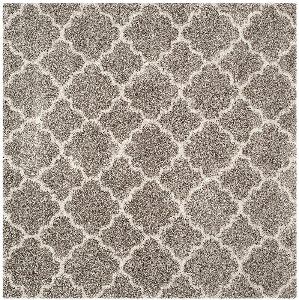 Hudson Shag Eliot Grey / Ivory 7 ft. X 7 ft. Square Area Rug