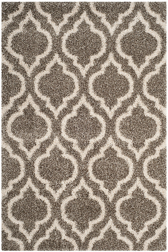 Hudson Shag Searlait Grey / Ivory 6 ft. X 9 ft. Area Rug