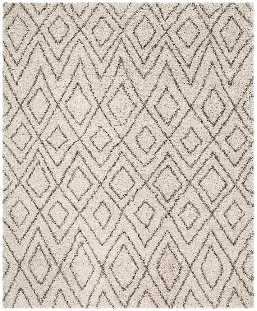 Hudson Shag Hannan Ivory / Grey 8 ft. X 10 ft. Area Rug