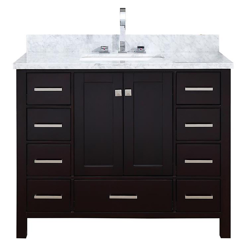 ARIEL Cambridge 43 inch Single Rectangle Sink Vanity In ...