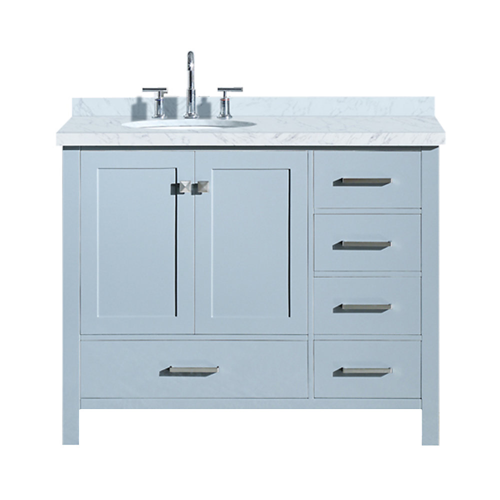 ARIEL Cambridge 43 inch Left Offset Single Oval Sink ...
