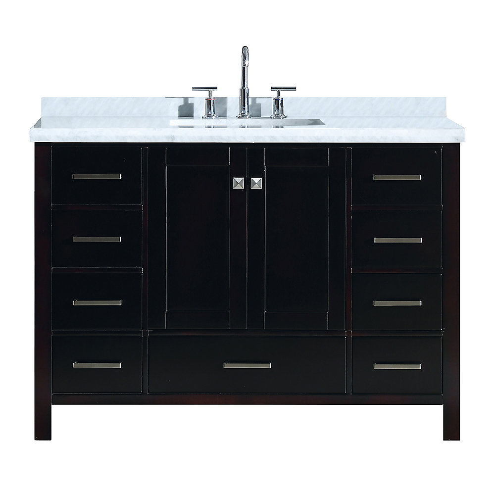Cambridge 49 inch Single Rectangle Sink Vanity In Espresso