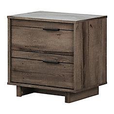 Table de chevet 2 tiroirs Fynn, Chêne automnal