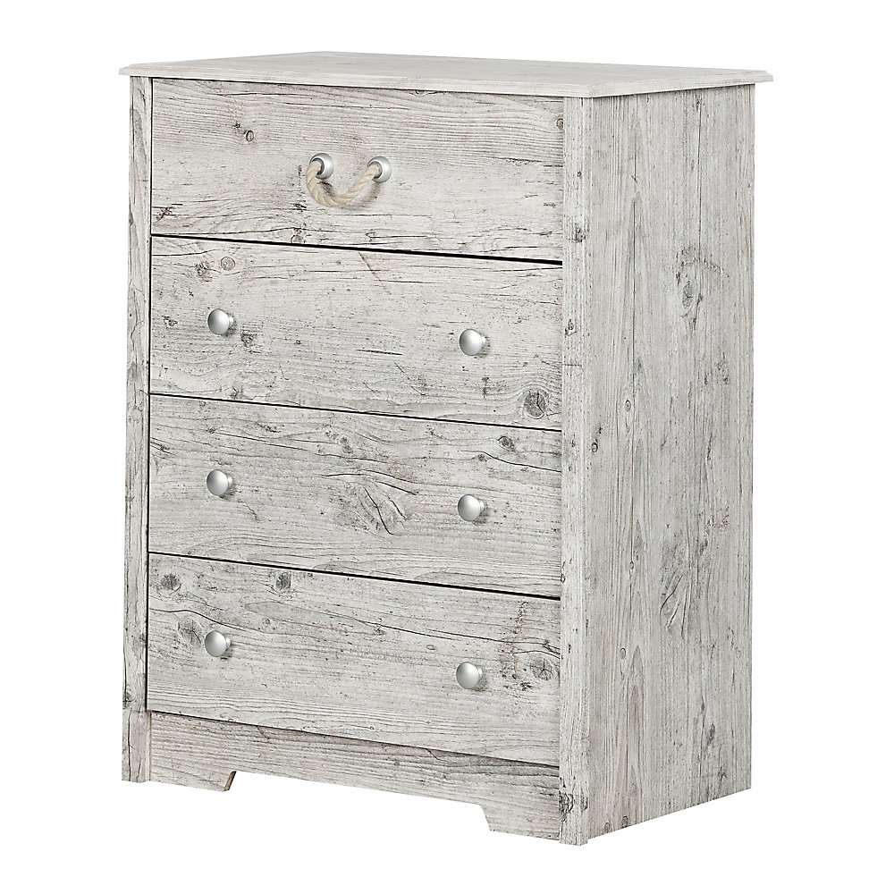 Aviron 4-Drawer Chest, Seaside Pine