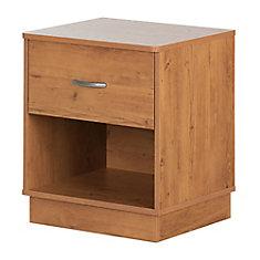 Table de chevet 1 tiroir Logik, Pin country